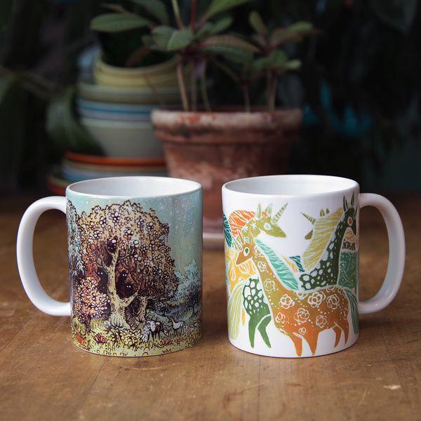 Mug designs by Ulla Thynell on Society6