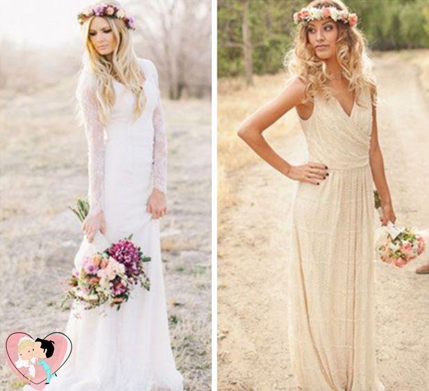 no casamento estilo boho chic o vestido da noiva leve com inspirao hippie chic
