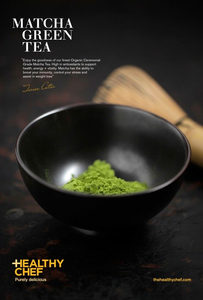 The Healthy Chef   Organic Matcha Green Tea   Ceremonial grade and bursting with antioxidants and phytonutrients!   You can find this product and recipes featuring our Organic Matcha at www.thehealthychef.com