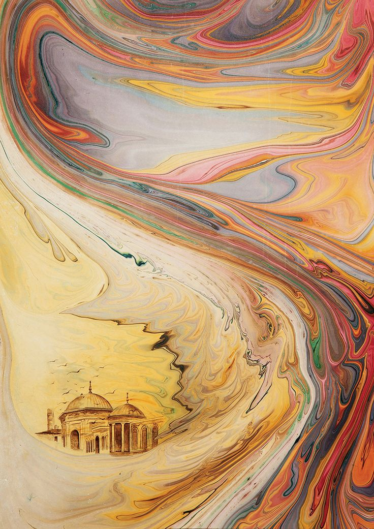 "Ready to get lost in a colour fest? Hikmet Barutçugil, introducing ""Barut Marbling"" to marbling art, will be at Art In Action held in Oxford between July 18-21. www.skylife.com/en/"