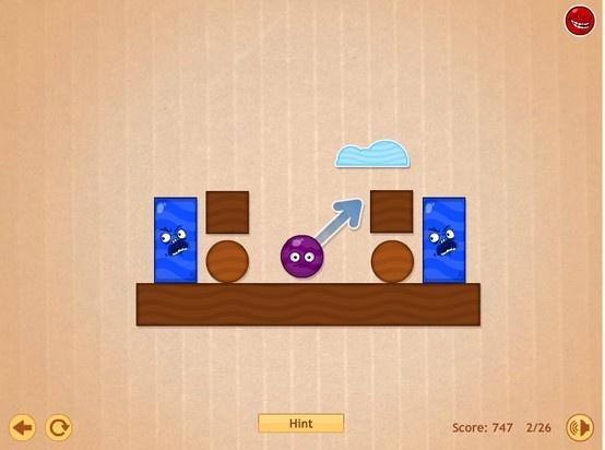 Un nuevo paquete de niveles con este juego donde tienes que colocar las caritas redondas en lugares para expulsar de la plataforma a las caras cuadradas, no desperdicies los tiros y trata de pasar todos los niveles.