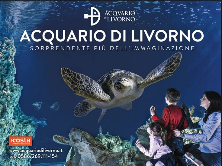 2015 Acquario di Livorno - Livorno's Aquarium in Livorno, Piazzale Mascagni 1; until June 12, 10 a.m.-6 p.m.; on weekends, 10 a.m.-7 p.m.; June 13-30, 10 a.m.-7 p.m.; July 1-Aug. 31, 10 a.m.-9 p.m.; Sept. 1-13, 10 a.m. – 7 p.m.; Sept. 14-27, 10 a.m.-6 p.m.; Sept. 28 –Dec. 31, open on weekends, 10 a.m.-6 p.m.; tickets: €13; reduced €8 for 26 for children under 13 and taller than 39.37 inches; free entrance for children shorter than 39.37 inches; €11 for senior citizens above 65.