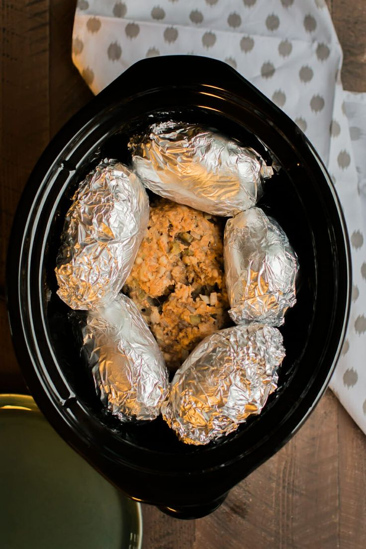 You can make an entire meal in the slow cooker with this Slow Cooker Meatloaf and Baked Potatoes Recipe.