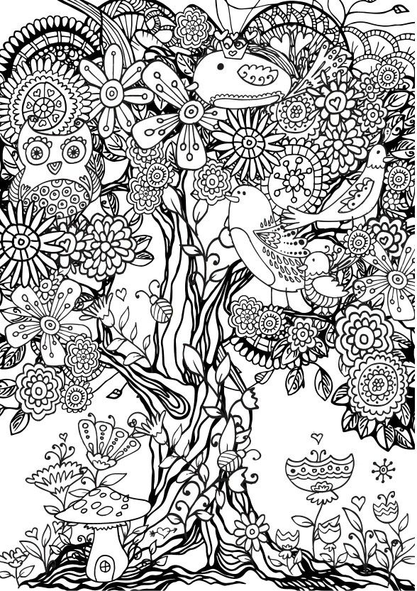 Free Colouring Pages Flowers Printable : 49 best free colouring pages flowers gardens images on pinterest