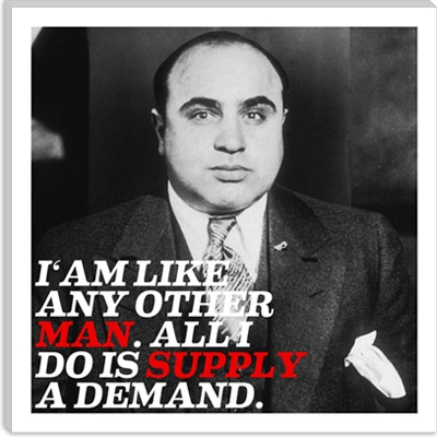 Al Capone Quote Canvas Art Print - iCanvasART.com