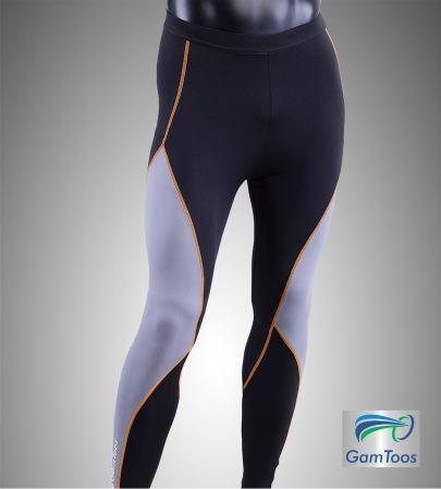 GamToos PRO – Calza Larga Hombre Compresión Localizada Negra y Gris - (CHP-L-0001-NG)
