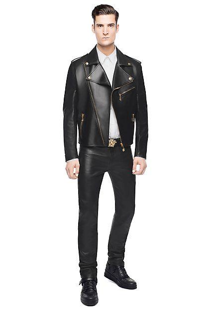 Versace Blouson de moto en cuir tête Medusa 2990 EUR