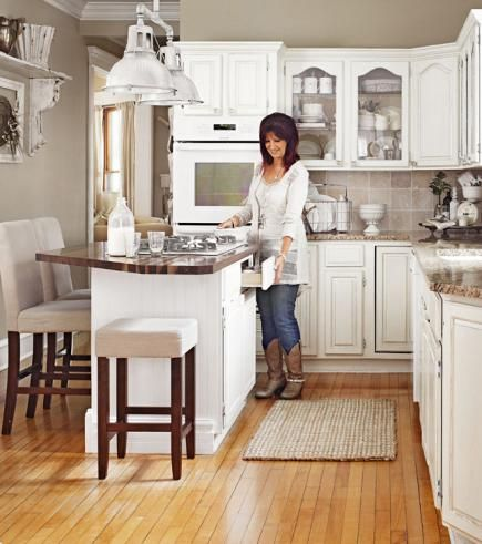 House Tour: Time To Collect. Small Kitchen With IslandSmall ...