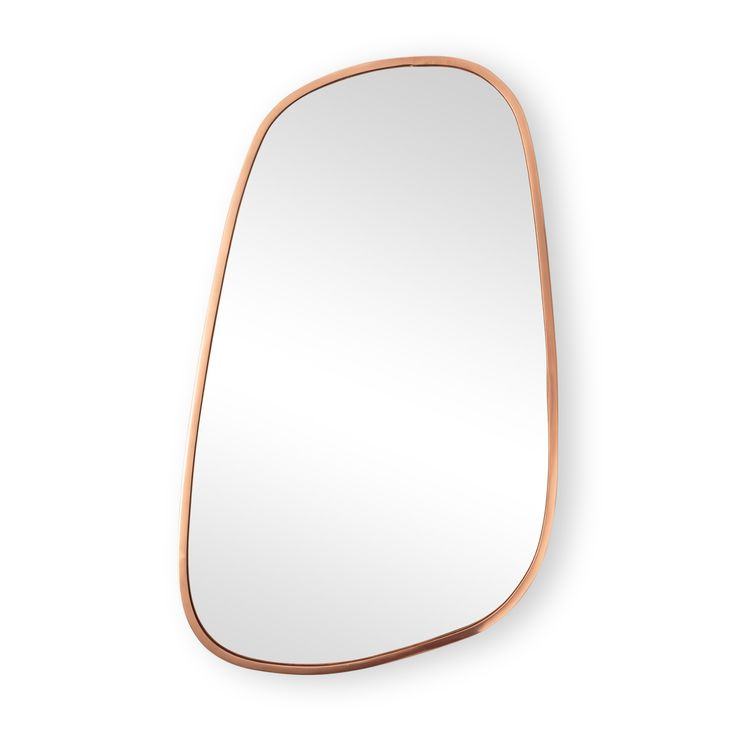 Buy the Large Rose Gold Pebble Wall Mirror at Oliver Bonas. Enjoy free UK standard delivery for orders over £50.