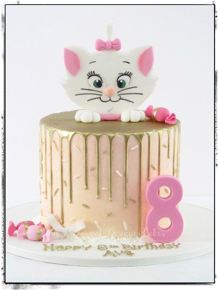 Cat themed drip cake.