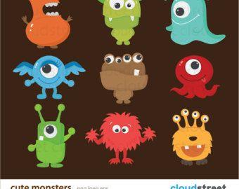 Kleines Monster-ClipArt / kleine Monster-Clipart / von DreamyDuck                                                                                                                                                                                 Mehr