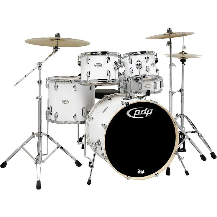 PDP Mainstage 5-Piece Drum Set w/Hardware and Paiste Cymbals White