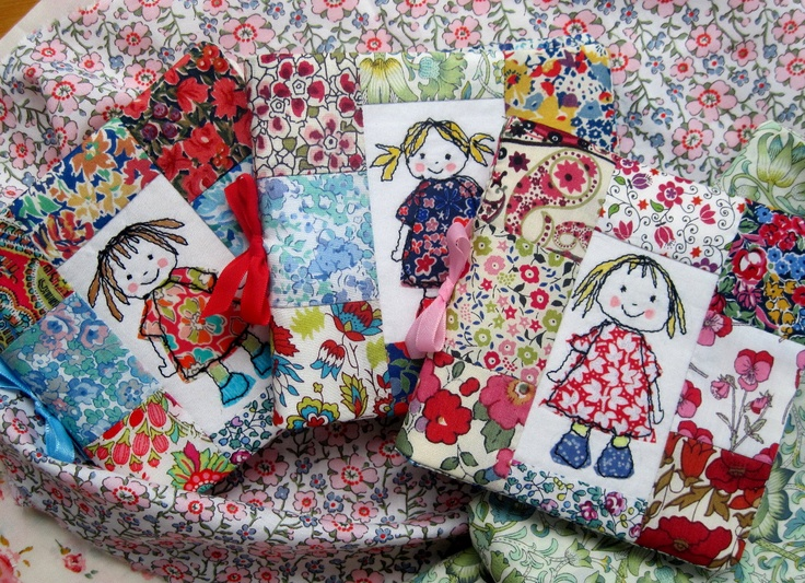 Super pretty Liberty needle books: Flutterby Patch: August 2012