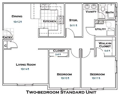 Bedroom Apartment Floor Plan best 25+ 2 bedroom floor plans ideas on pinterest | small house