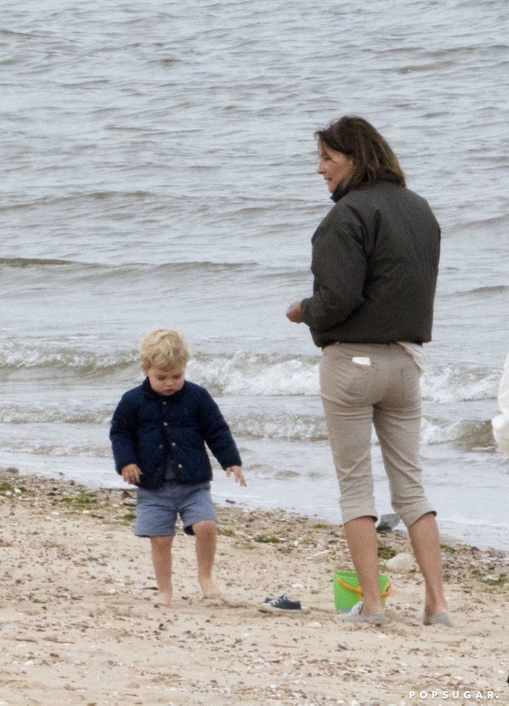 Pin for Later: Prince George Has the Cutest Beach Day With His Grandma