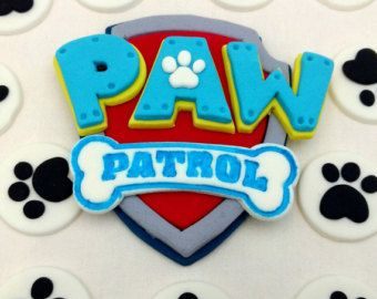 Paw Patrol Rescue Dog Badges Fondant Birthday by SweetComplete