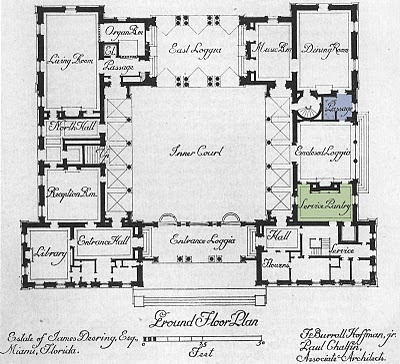 Floor plan architect design vizcaya the pantries for Miami mansion floor plans