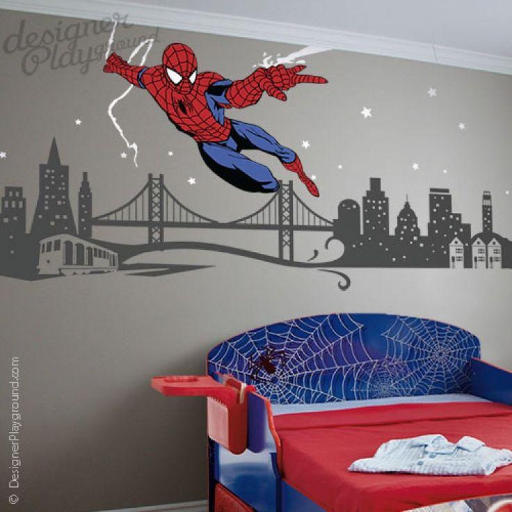 Les 10 meilleures images du tableau chambre garcon super heros sur pinterest chambre enfant - Deco chambre super heros ...