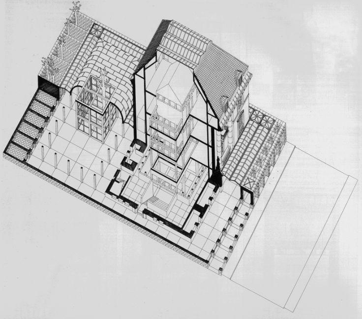 Deutsches Architekturmuseum. Frankfurt. 1979-1984 O.M. Ungers