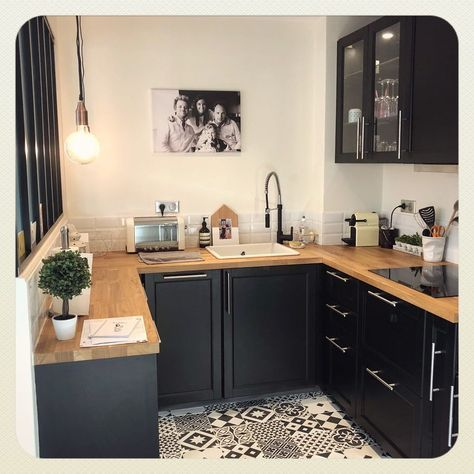 #home #cuisine #ikea #laxarby #carreauxdeciment