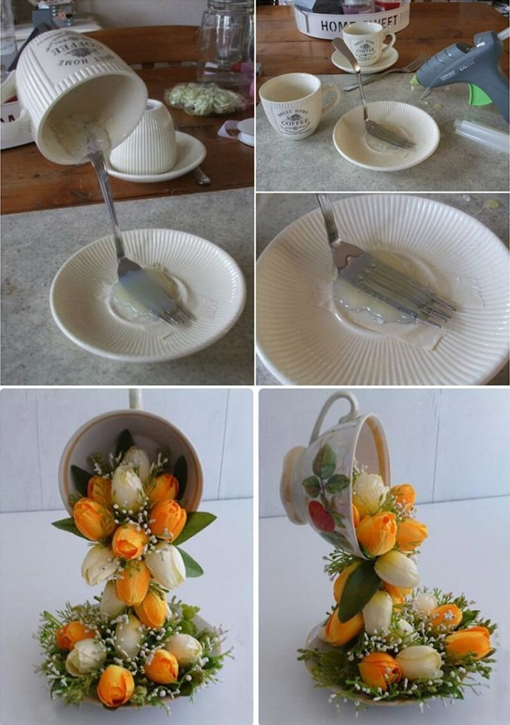 Homemade Centerpiece with Florals