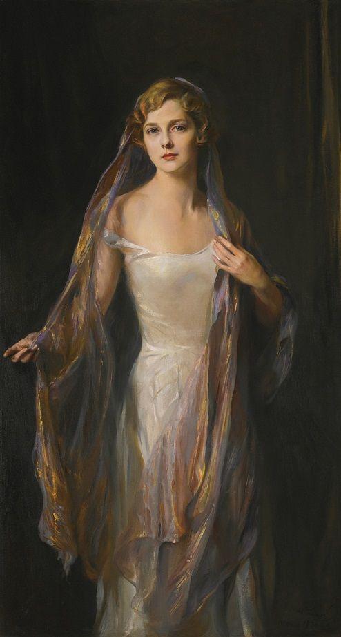 Philip Alexius de László (Hungarian, 1869-1937): Portrait of Edith Hope Iselin, 1930 (Oil on canvas)