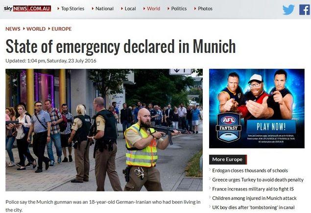 "Barat Dukung Jerman Terapkan Kondisi Darurat Pasca 10 Tewas Tapi Kecam Turki Padahal Ratusan Tewas  [portalpiyungan.com] MUNICH - ""State of Emergency"" atau kondisi darurat telah diberlakukan Jerman pasca penembakan Jumat (22/7) yang menewaskan sepuluh orang. Penembakan terjadi Jumat malam di kawasan mal Olympia-Einkaufszentrum (OEZ) Munich Jerman. Dalam keterangan pers Sabtu (23/7/2016) dini hari Kepala Kepolisian Munich; Hubertus Andrae mengatakan pelaku mengumbar tembakan di restoran…"