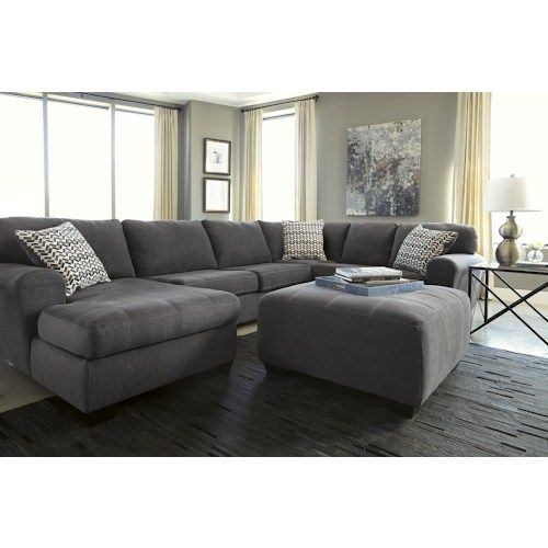 Ashley/Benchcraft Sorenton Contemporary 3-Piece Sectional with Left Chaise