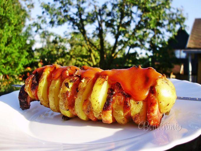 Grilované zemiakové špízy