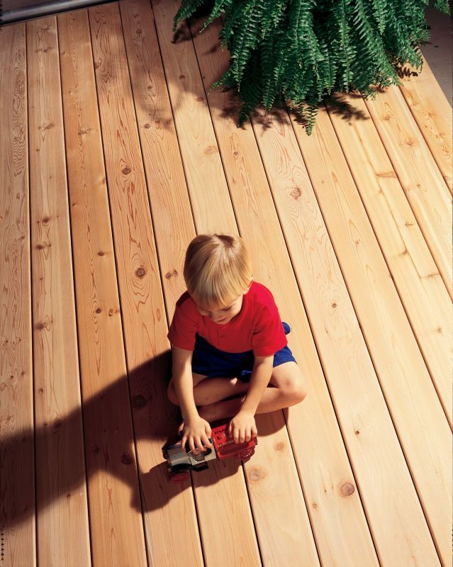 """6"""" cedar decking, courtesy of Western Red Cedar Lumber Association"""