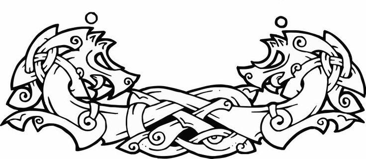 Colección de diseños para tatuajes inspirados por el arte de celtas, antiguos germanos y vikingos.
