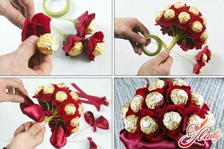 как сделать букет из конфет своими руками