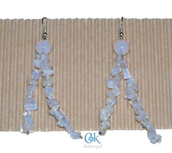 White winter earrings (284)