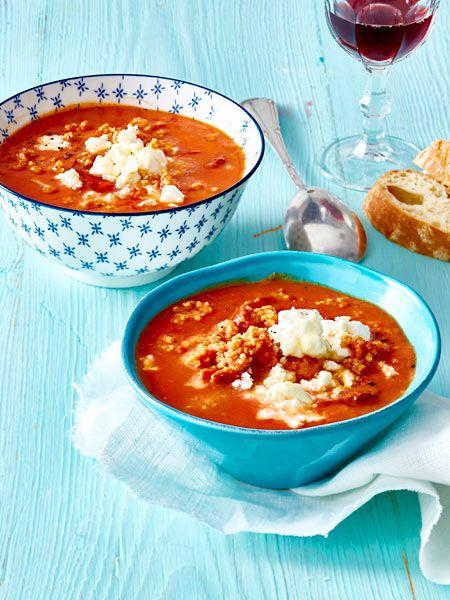 Schnelles Mittagessen: Tomaten-Bulgur-Suppe mit Blumenkohl (Vegan Recipes Cauliflower)