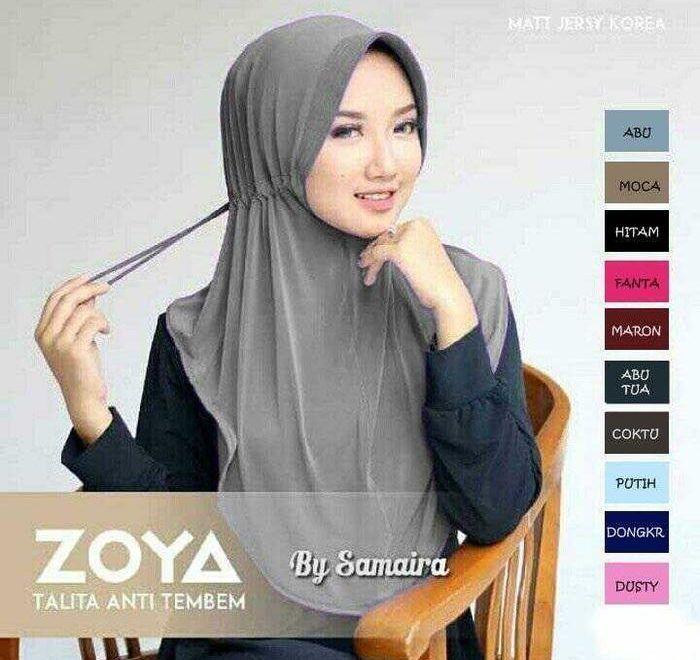 Zoya Talita Bergo Jersey Korea Hijab Jilbab Kerudung Kerudung Kursus Hijab Selebriti