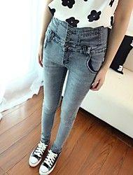 Dambyxor  ( Denim ) Skinny/Jeans  -  Mellan  -  Mikro-elastiskt