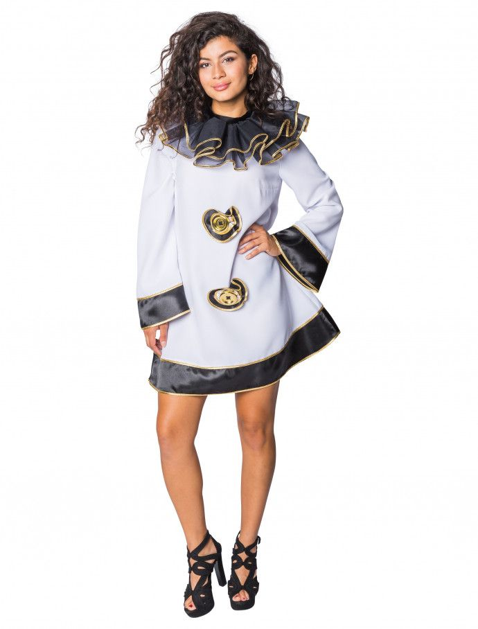 bf3f6b90e93991 Kleid Pierrot für Karneval   Fasching kaufen