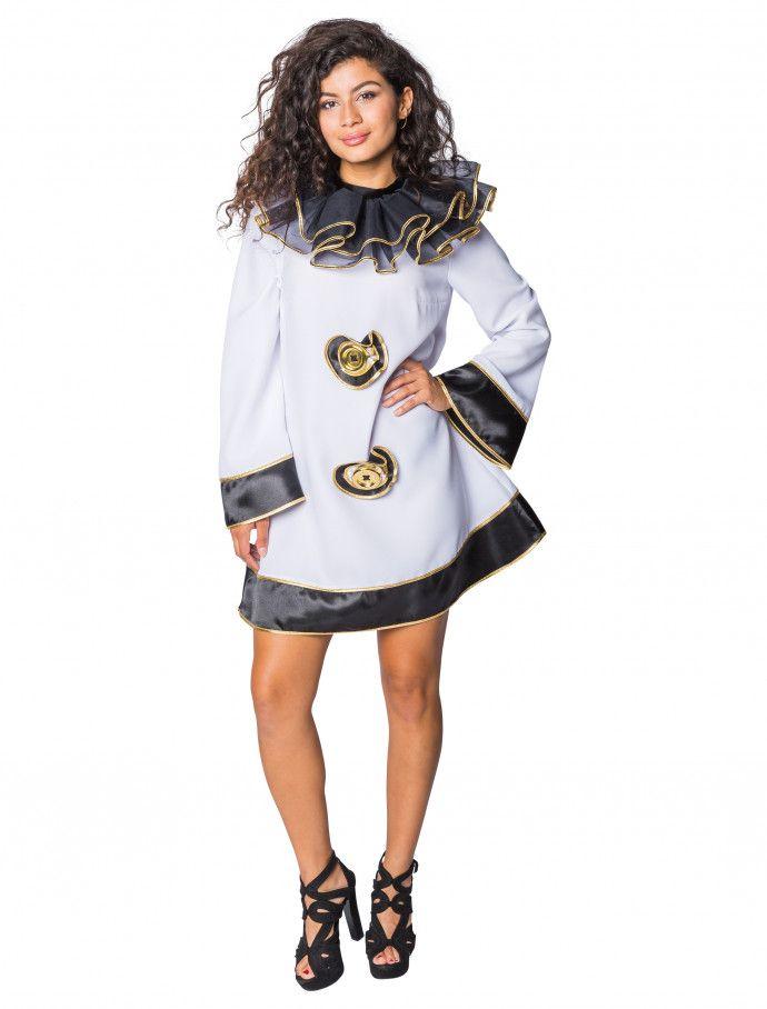 Kleid Pierrot Fur Karneval Fasching Kaufen Deiters Clown