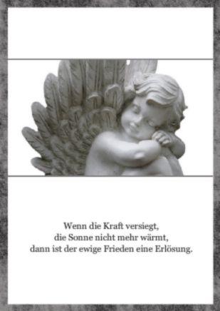 Danksagung Trauer Engel