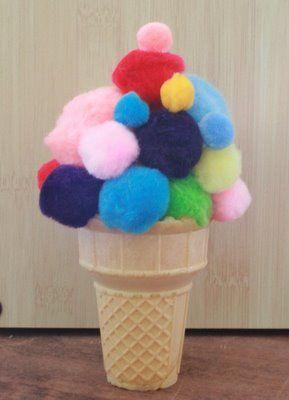 ice cream craft - Ben je op zoek naar pompoms? http://credu.nl/product/pompons/
