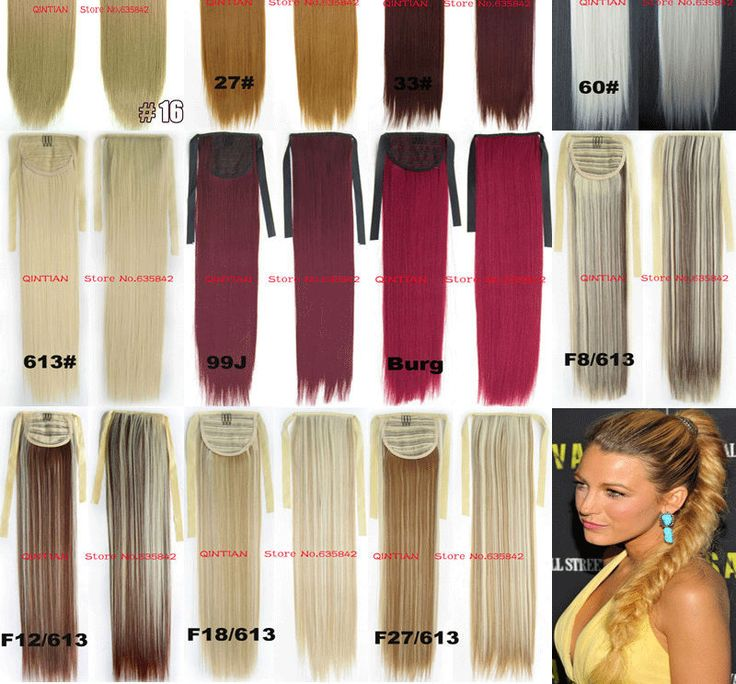 """Synthetic Drawstring Ribbon Ponytails Clip On Hair Extensions Straight 22"""" 55cm 100gram 20colors  Premium Quality Hairpieces"""
