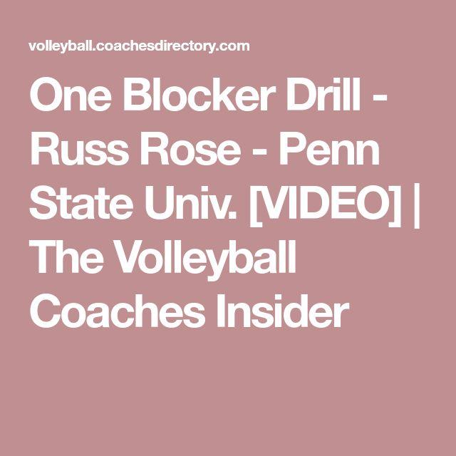One Blocker Drill - Russ Rose - Penn State Univ. [VIDEO] | The Volleyball Coaches Insider