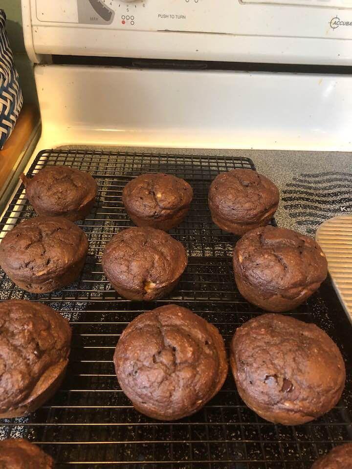kodiak cakes dark chocolate banana muffins