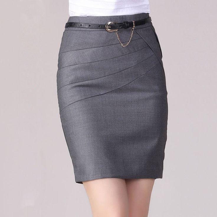 Saias Femininas 2015 Saia Curta High Waist Female Short Skirts Formal Office Work Women Pencil Skirt 4 Colors Plus Size 4XL C638