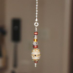 decorative ceiling fan pulls, great idea for extra beads you might have!