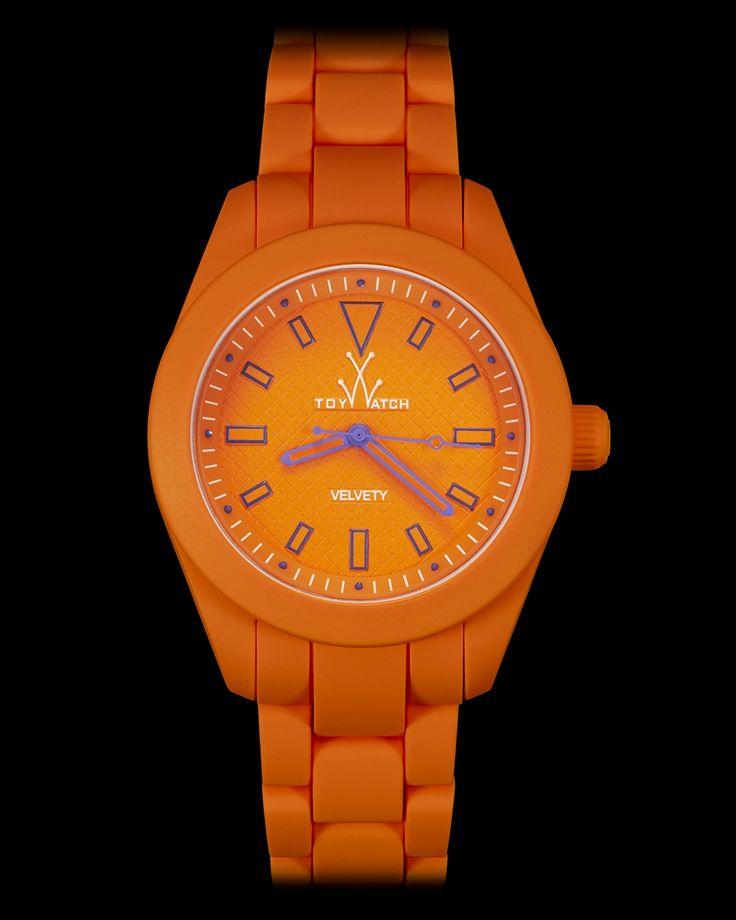 VELVETY ORANGE Click to see more! #ToyWatch #watch #watches #style #fashion #accessories #menswear #forhim #forher #orange #purple #velvet #soft #feel