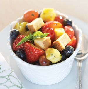 Every salad needs croutons, right? Give Fruit Salad with Pound Cake Croutons a try. We love it for dessert and for brunch.
