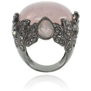 Rose Quartz Pompidou Ring