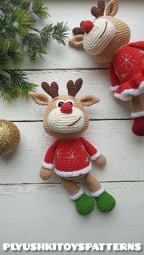 Cute little deer crochet pattern