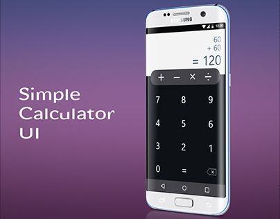 """Check out new work on my @Behance portfolio: """"simple calculator ui design"""" http://be.net/gallery/53085565/simple-calculator-ui-design"""